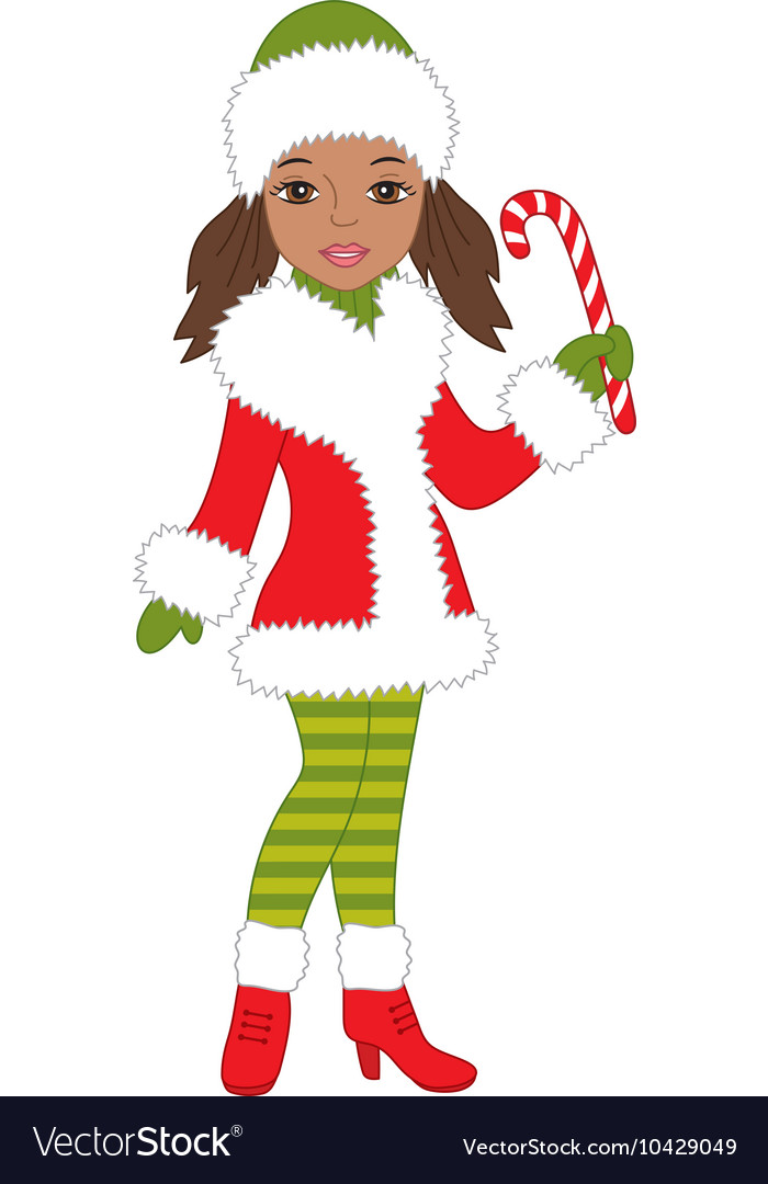 African American Christmas Royalty Free Vector Image
