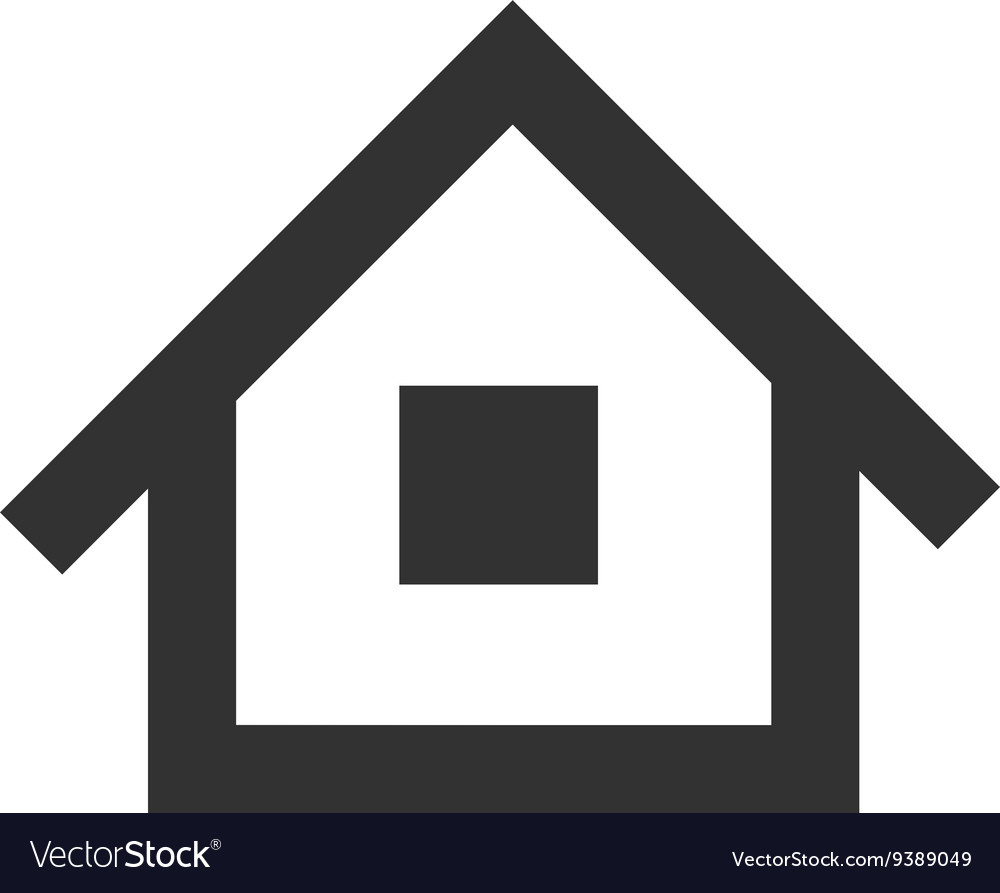 Black home icon vector image