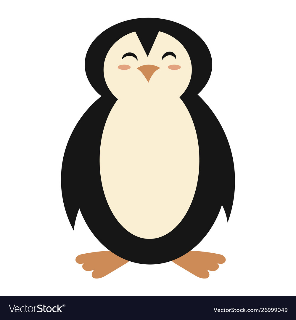 Cartoon penguin a cute