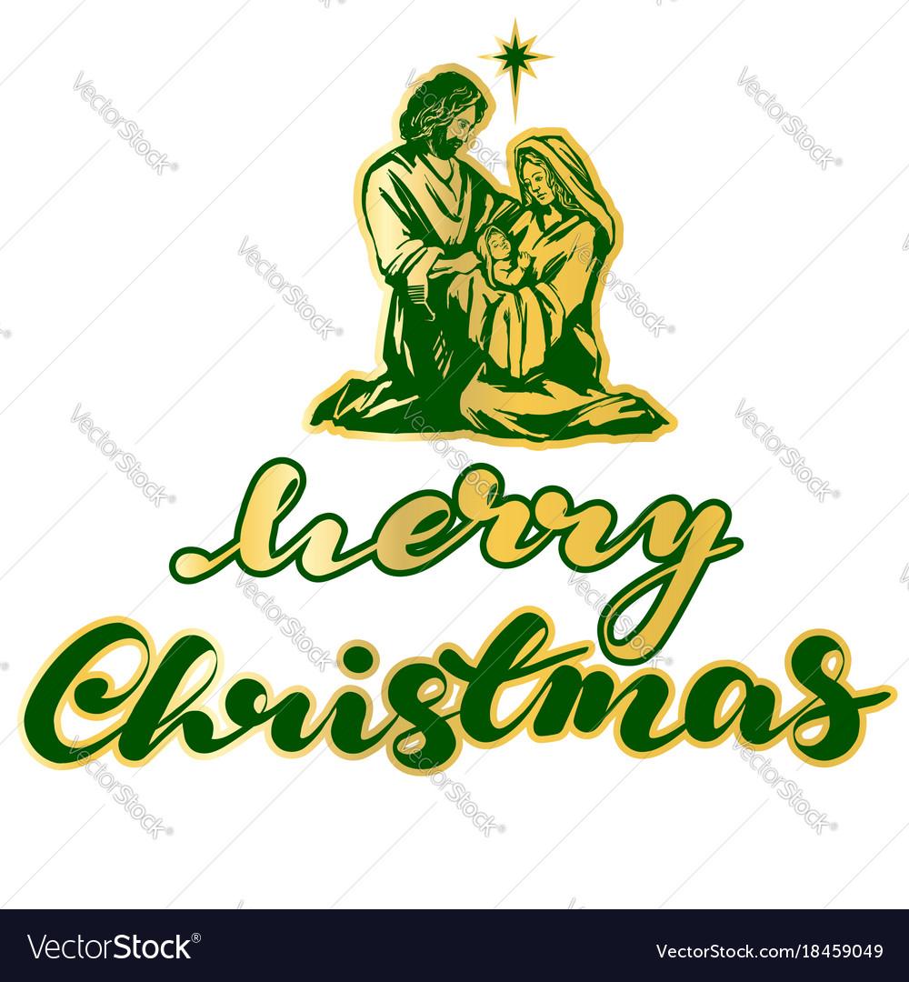 Christmas story mary joseph and the baby jesus