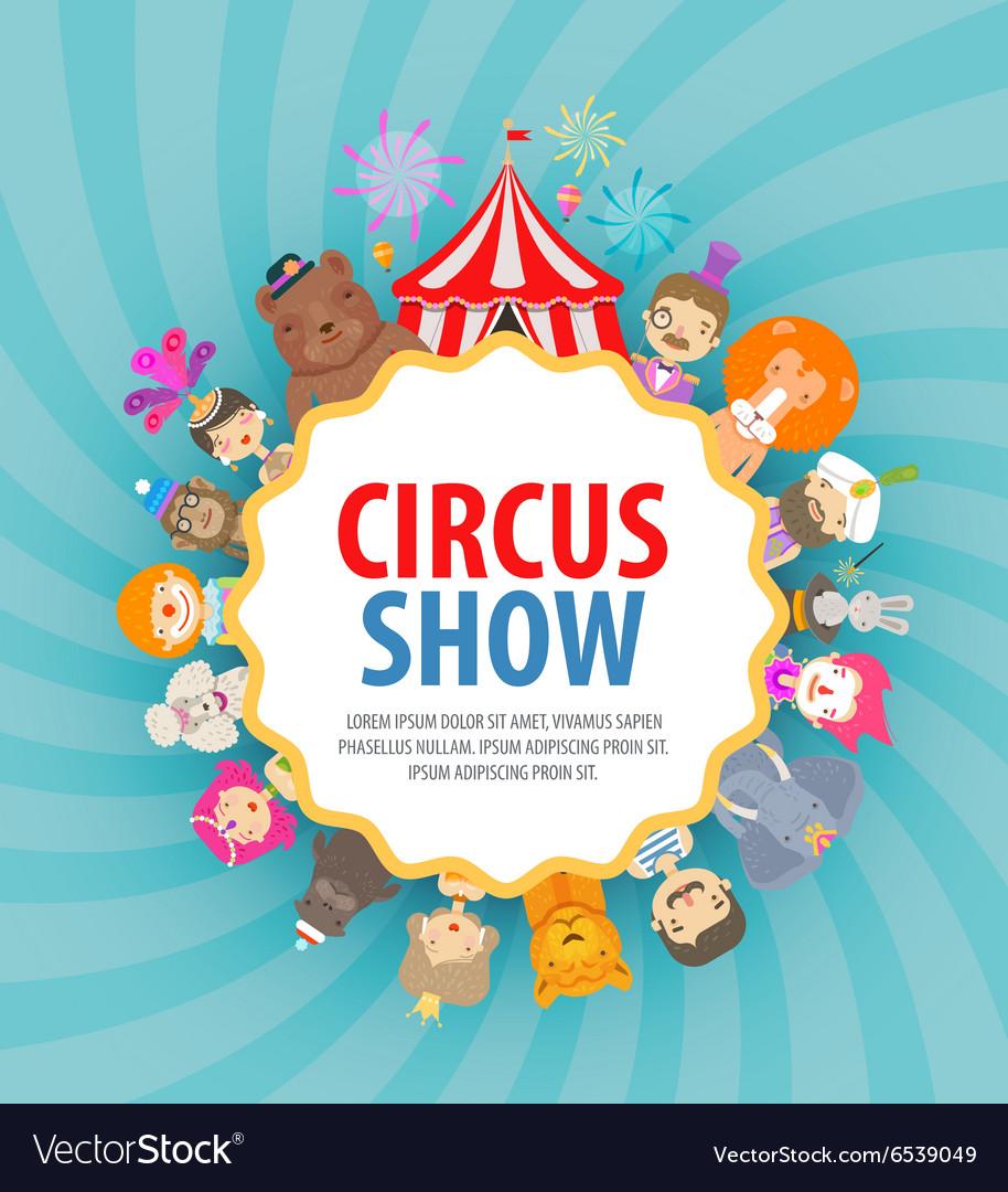 Circus logo design template festival or