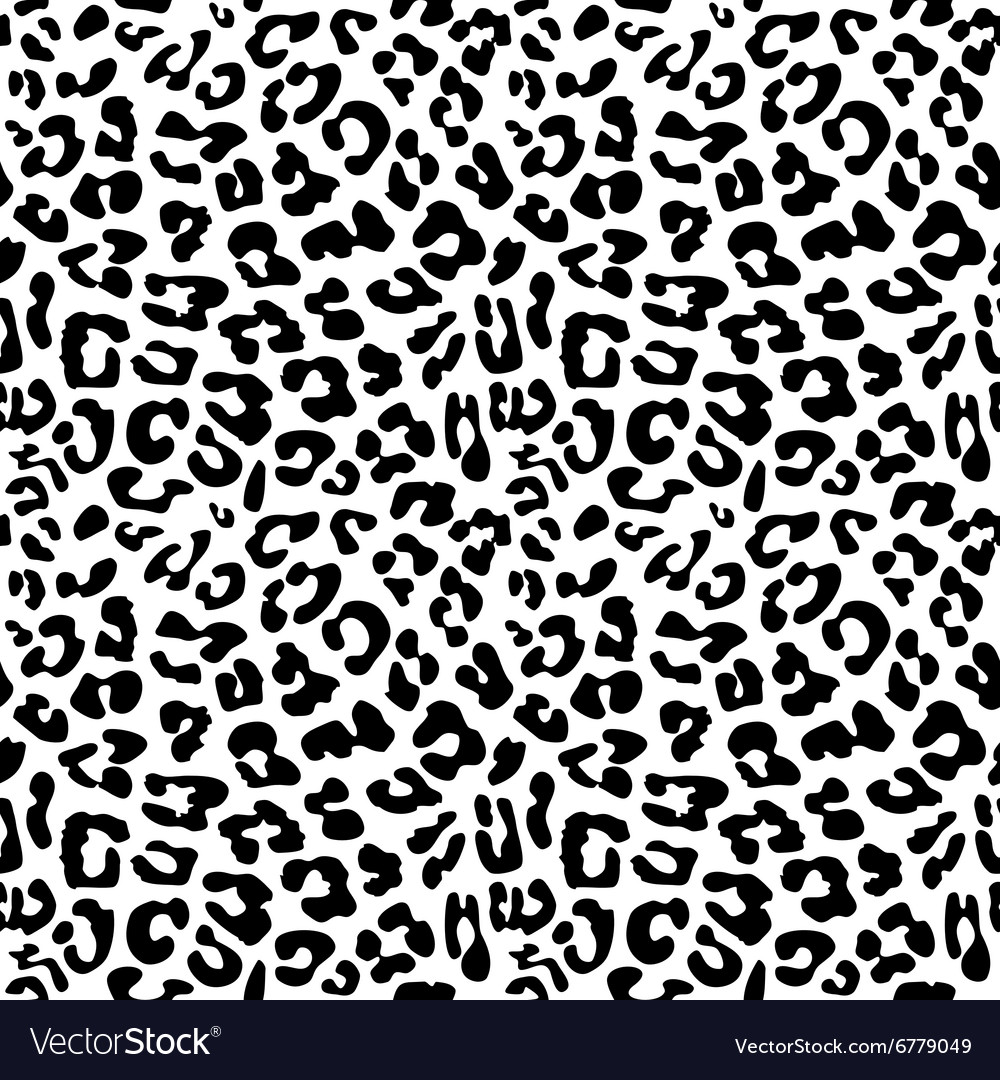 Leopard skin repeated seamless pattern texture vector image