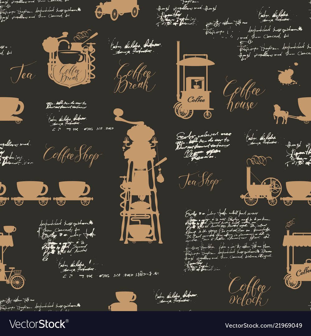 Seamless background on the coffee theme