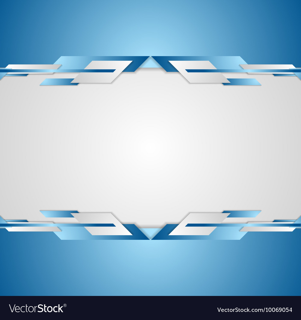 blue shiny hi tech motion flyer background vector image