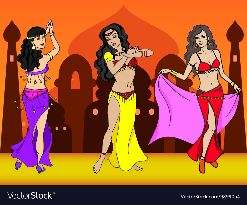 Eastern girl dancer