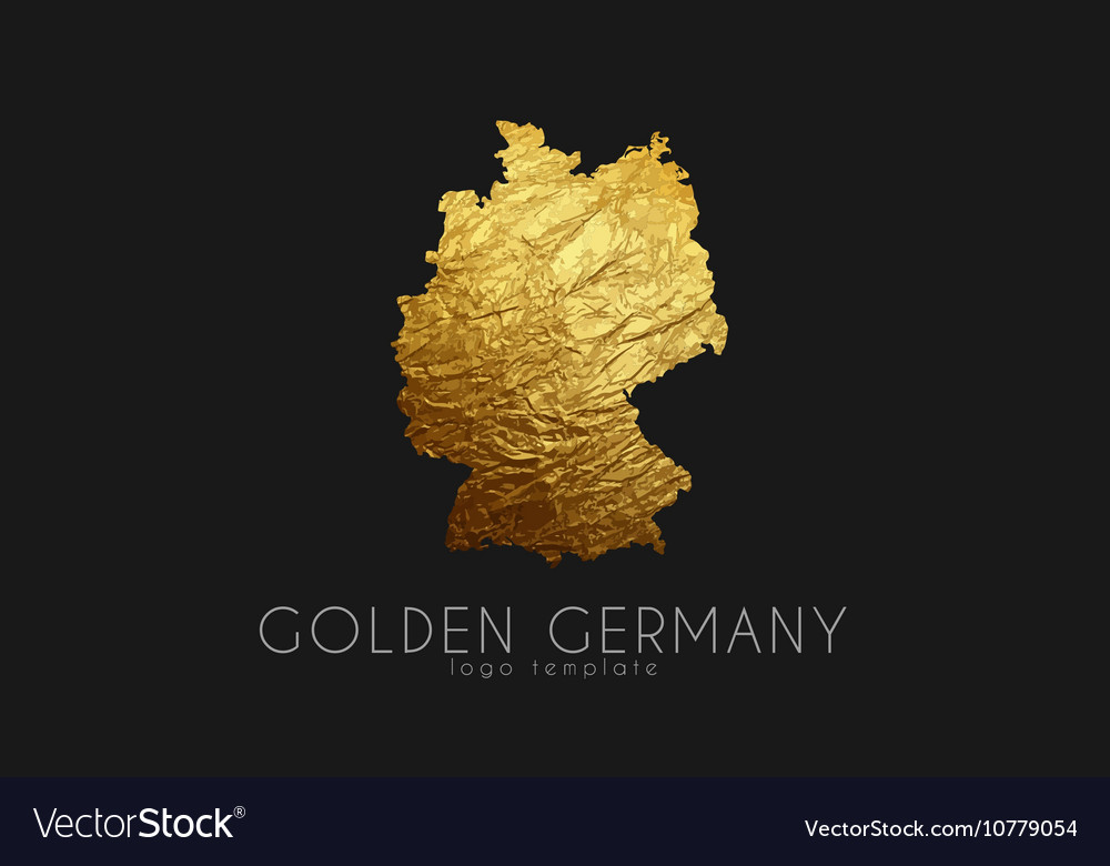 Germany map Golden Germany logo Creative Germany