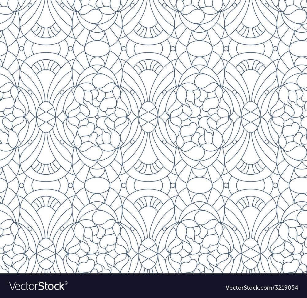Seamless floral pattern Composition of stylized