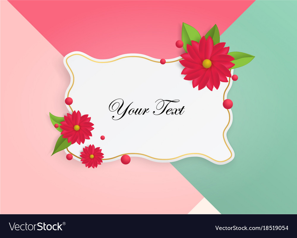 Wonderful background with beautiful flowers vector image