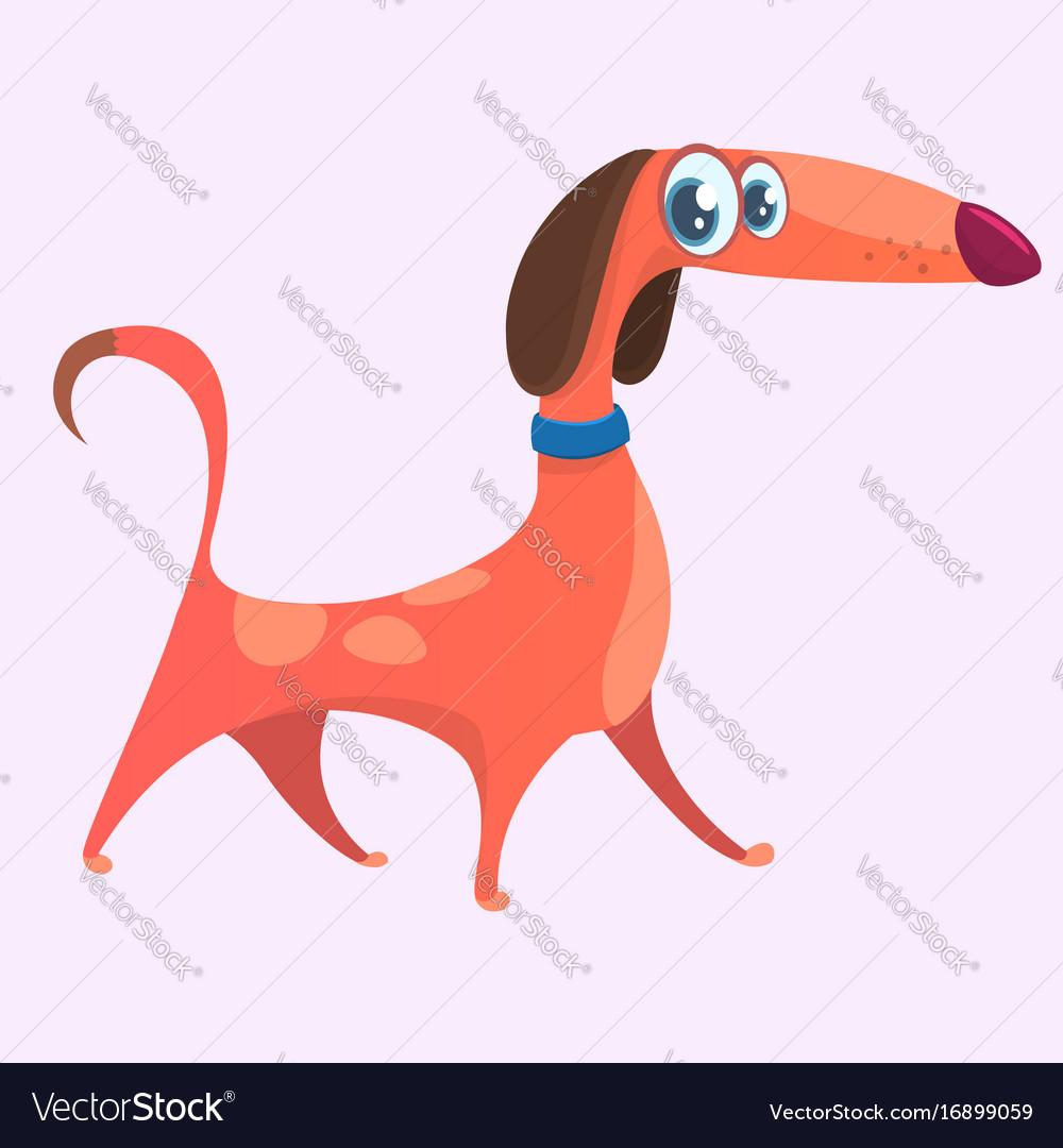 Cartoon cute purebred dachshund icon