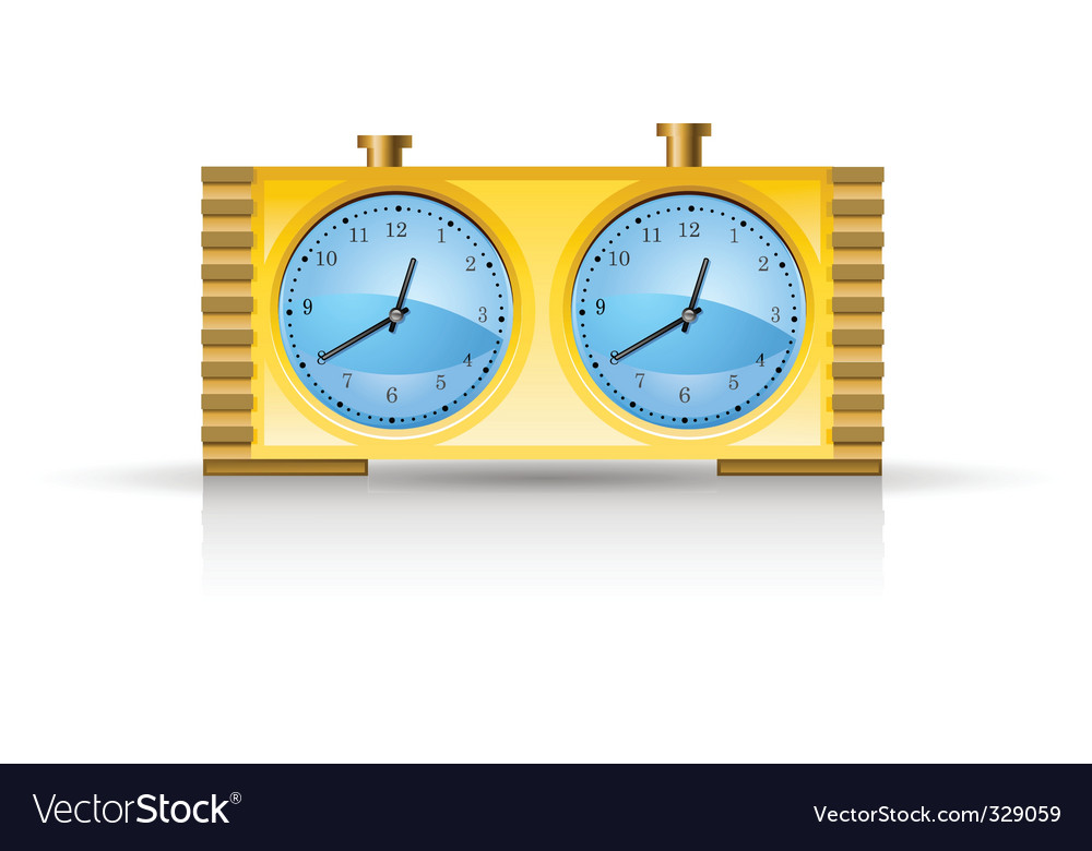 Chess clock vector image