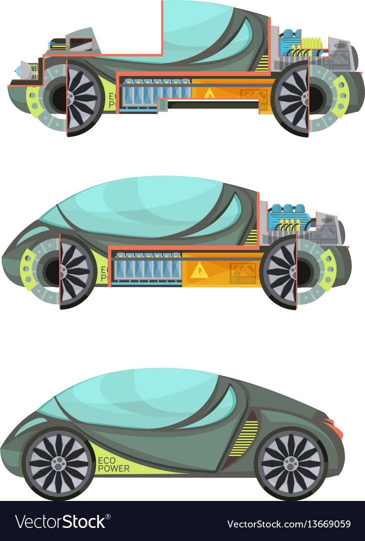 Electro cars set