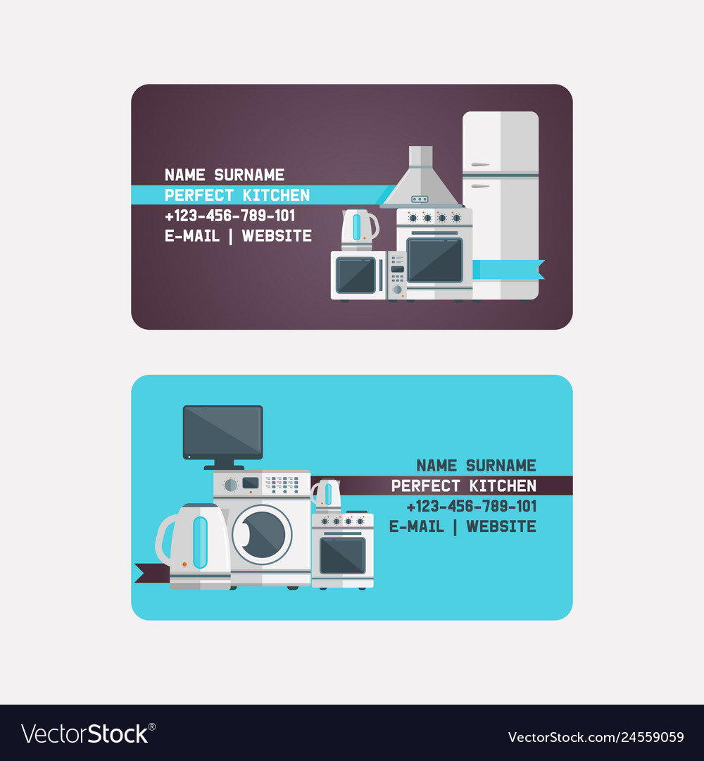 Household Appliances Electronic Business Card