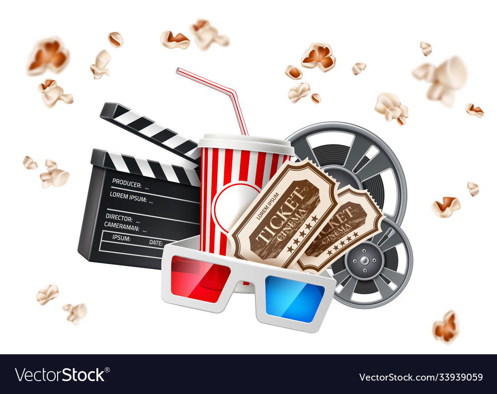 Movie cinema poster cup tape glasses