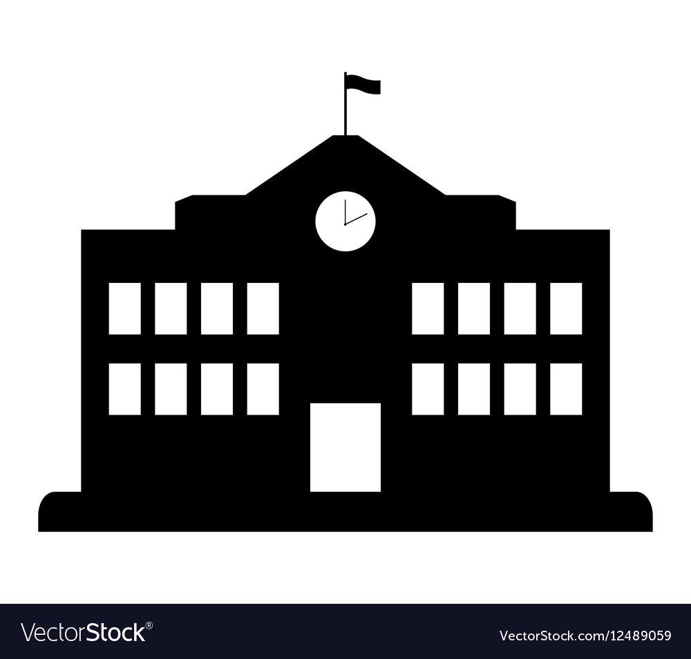 school building icon royalty free vector image rh vectorstock com school vector design school vector freepik