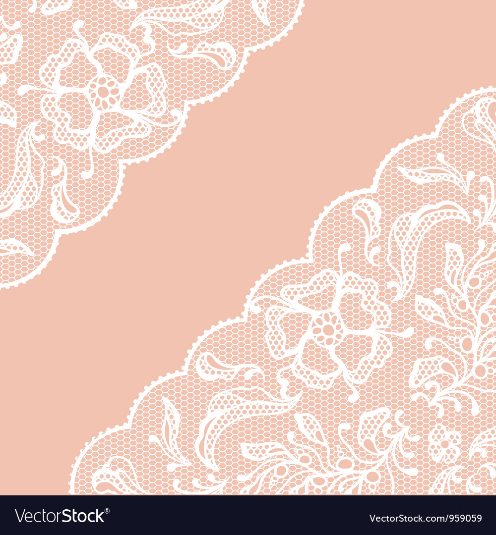 Vintage lace frame ornamental flowers texture