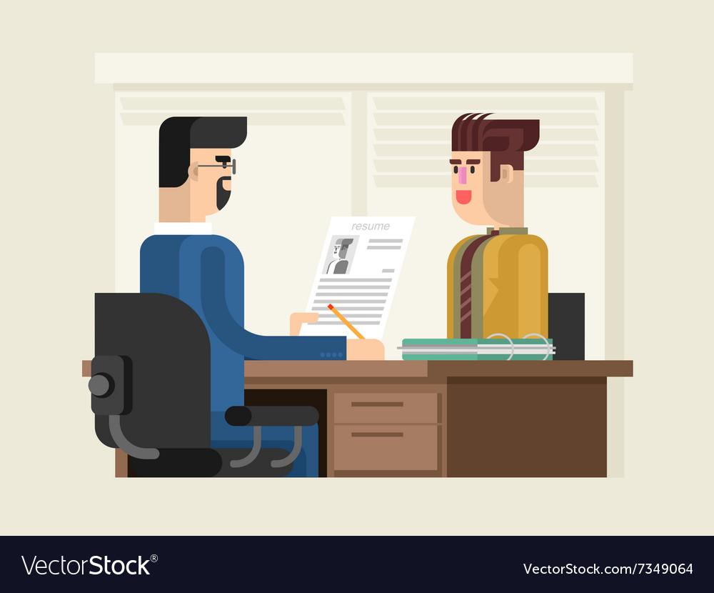 Job Interview Flat Design