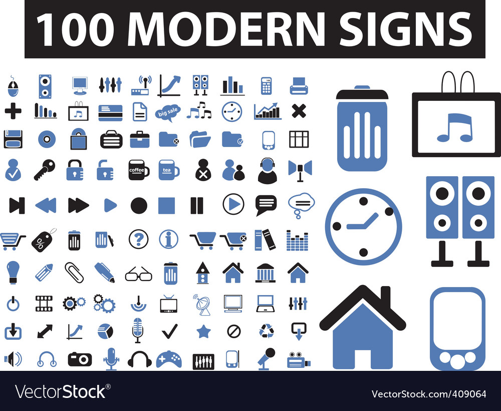 Modern signs vector image