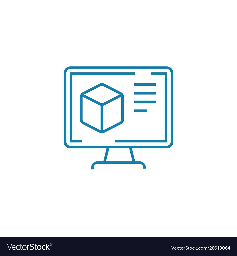 Website design linear icon concept website design