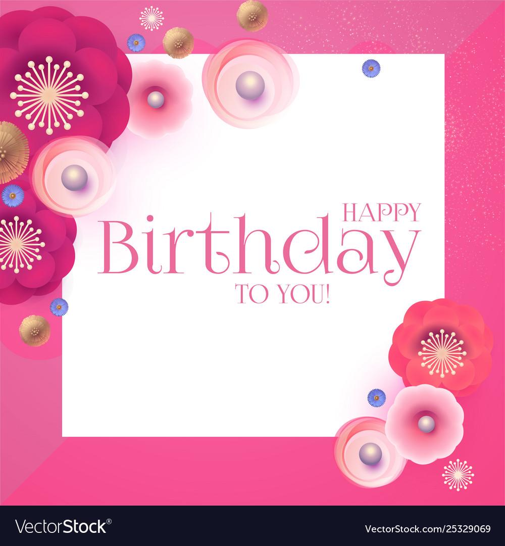 Happy birthday cute congratulation card template