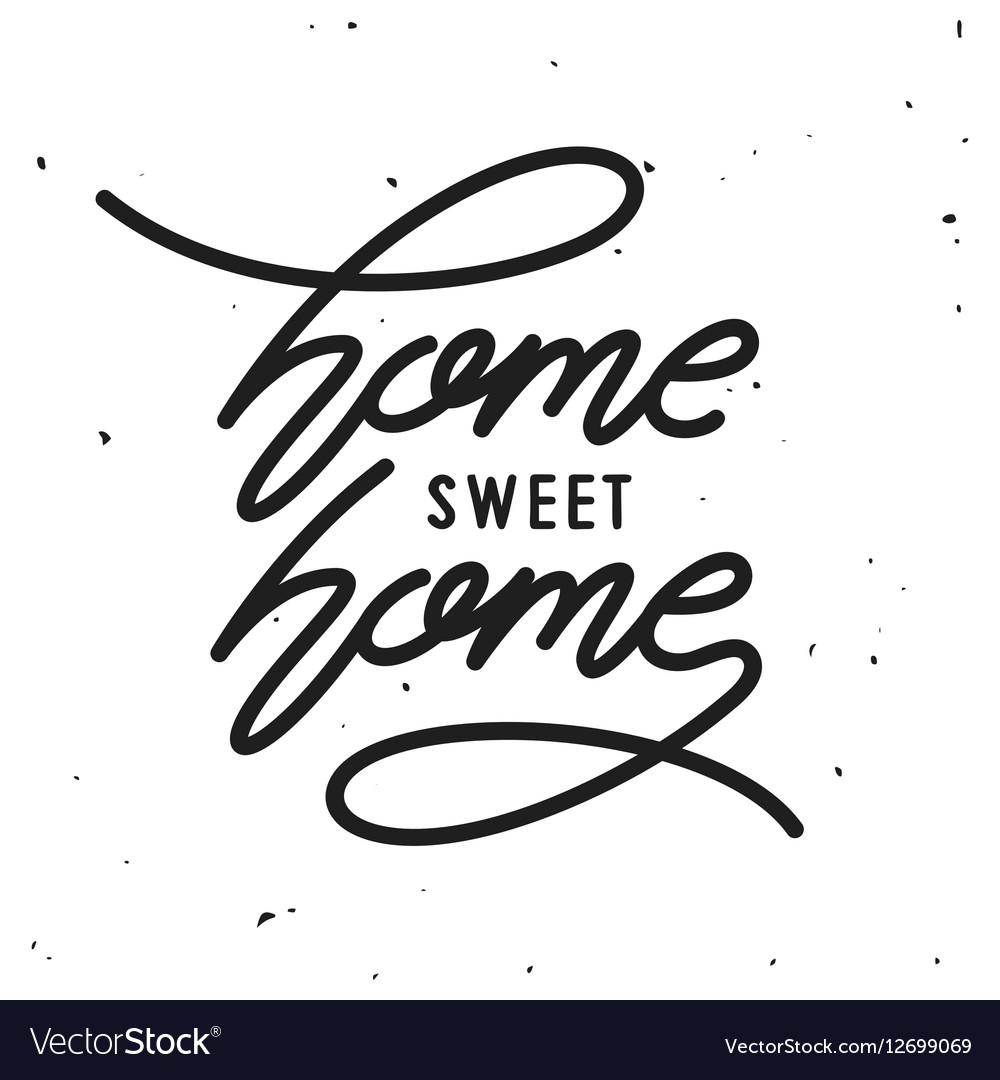 Home related poster vintage typography vector image