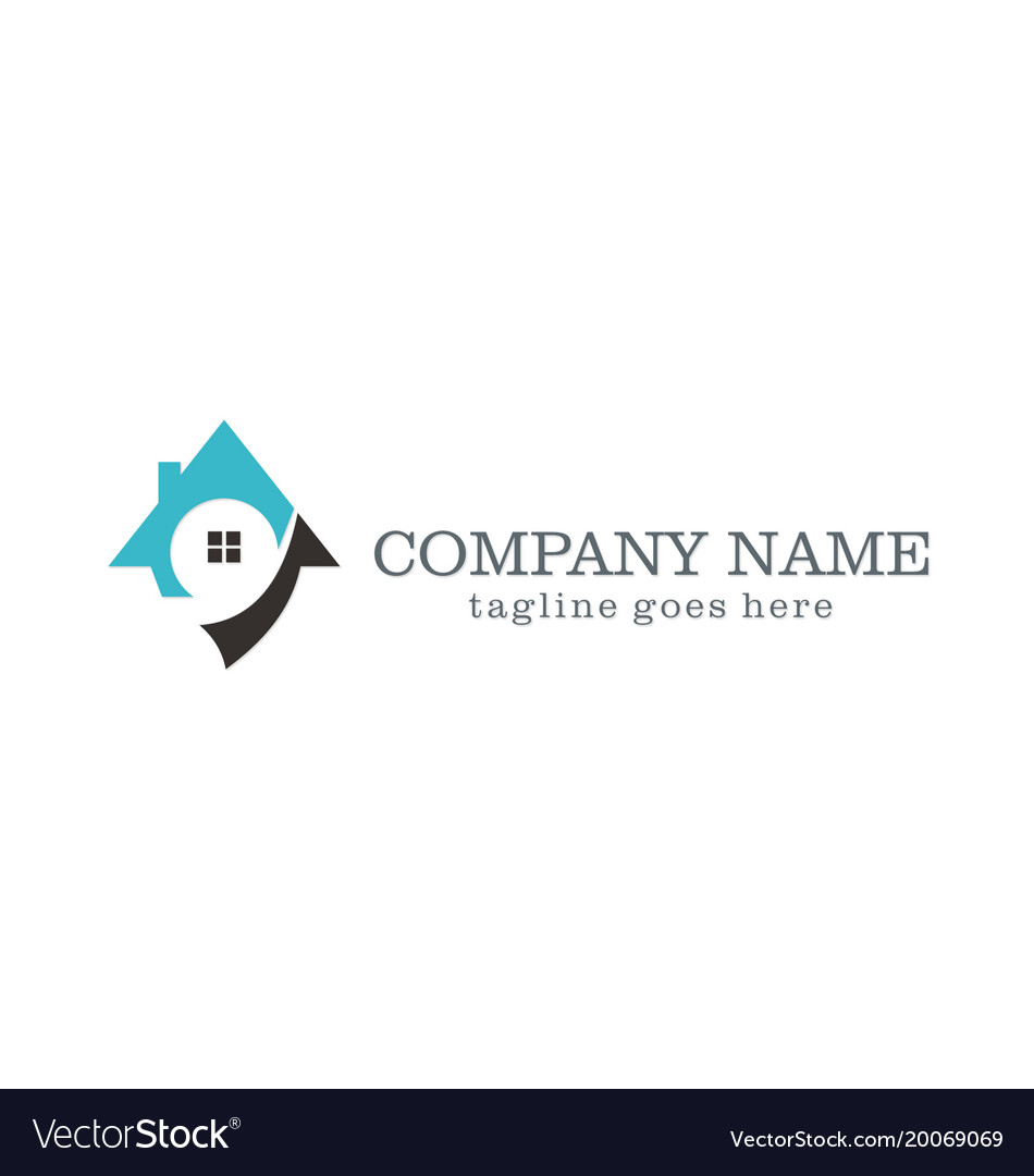 House unique realty company logo