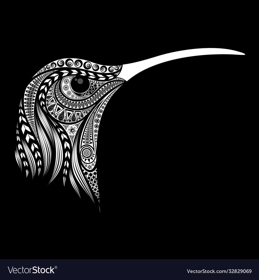 Hummingbird head from original patterns