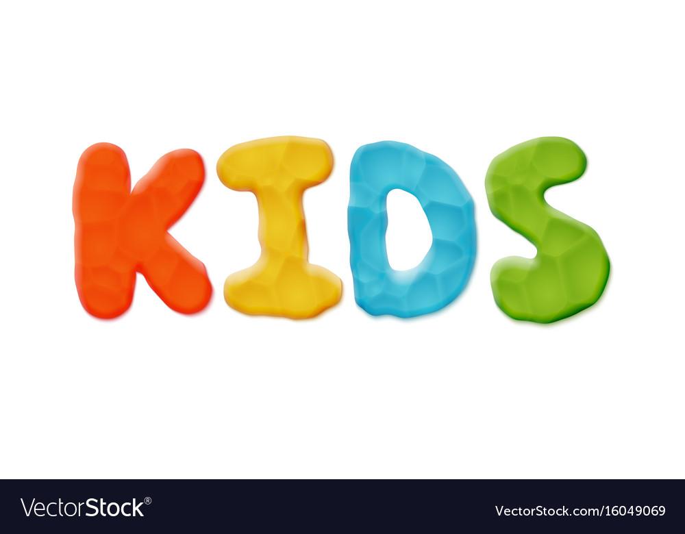 Kids logo template
