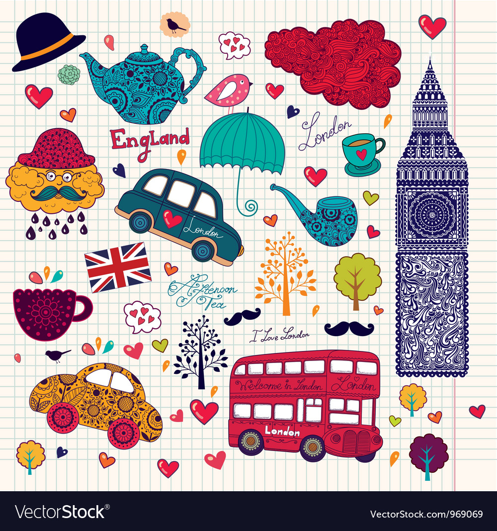 London Background Royalty Free Vector Image