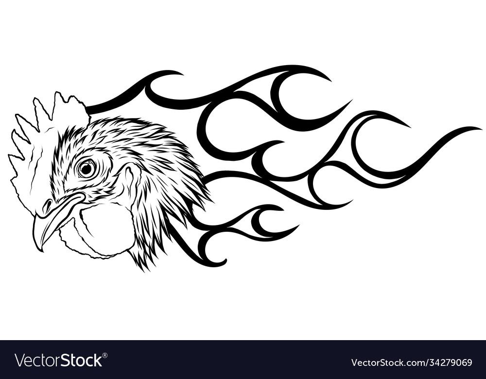 Rooster hot chicken esport logo mascot template