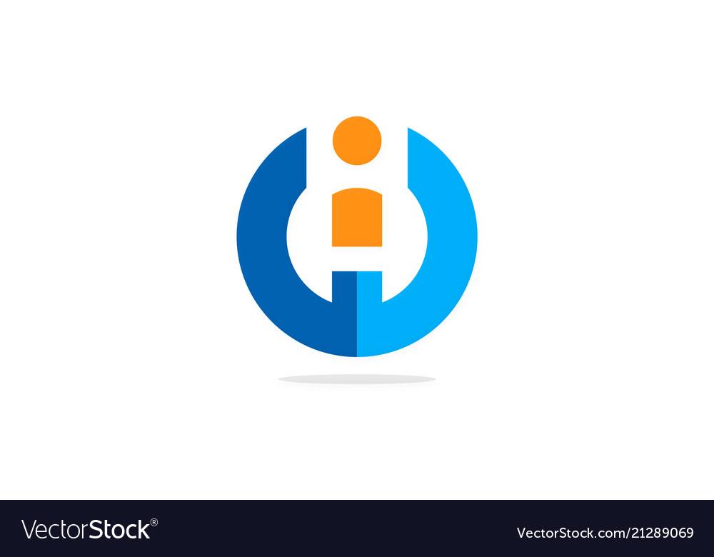 Round letter i business logo