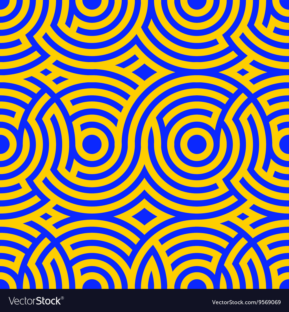 Two-color spiral patterns Seamless pattern