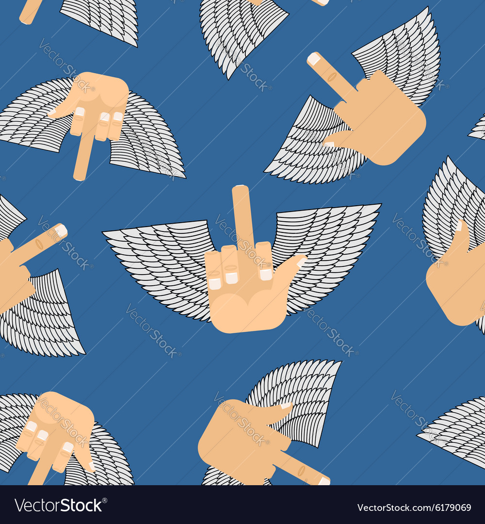 Winged seamless pattern Background for