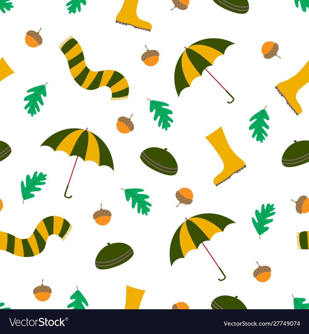 Autumn seamless pattern rainy season