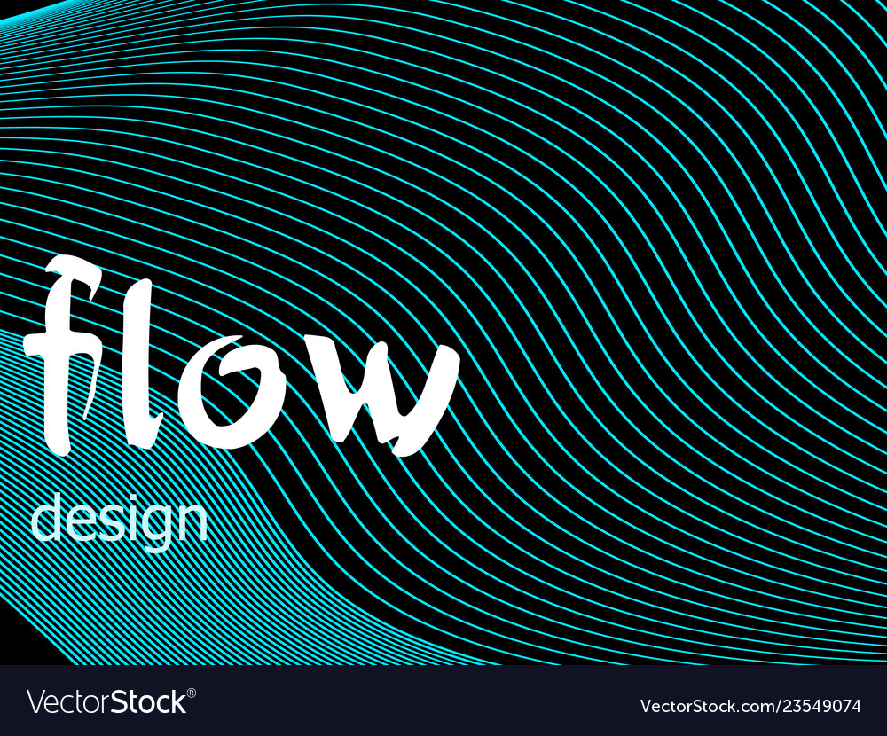 Fluid colorful texture on dark background flow