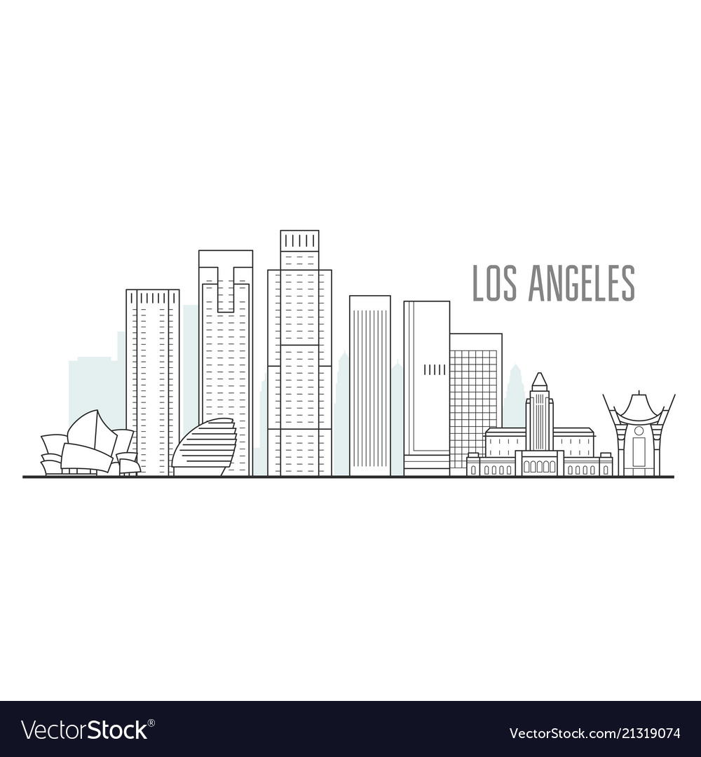 Los angeles city skyline - downtown cityscape