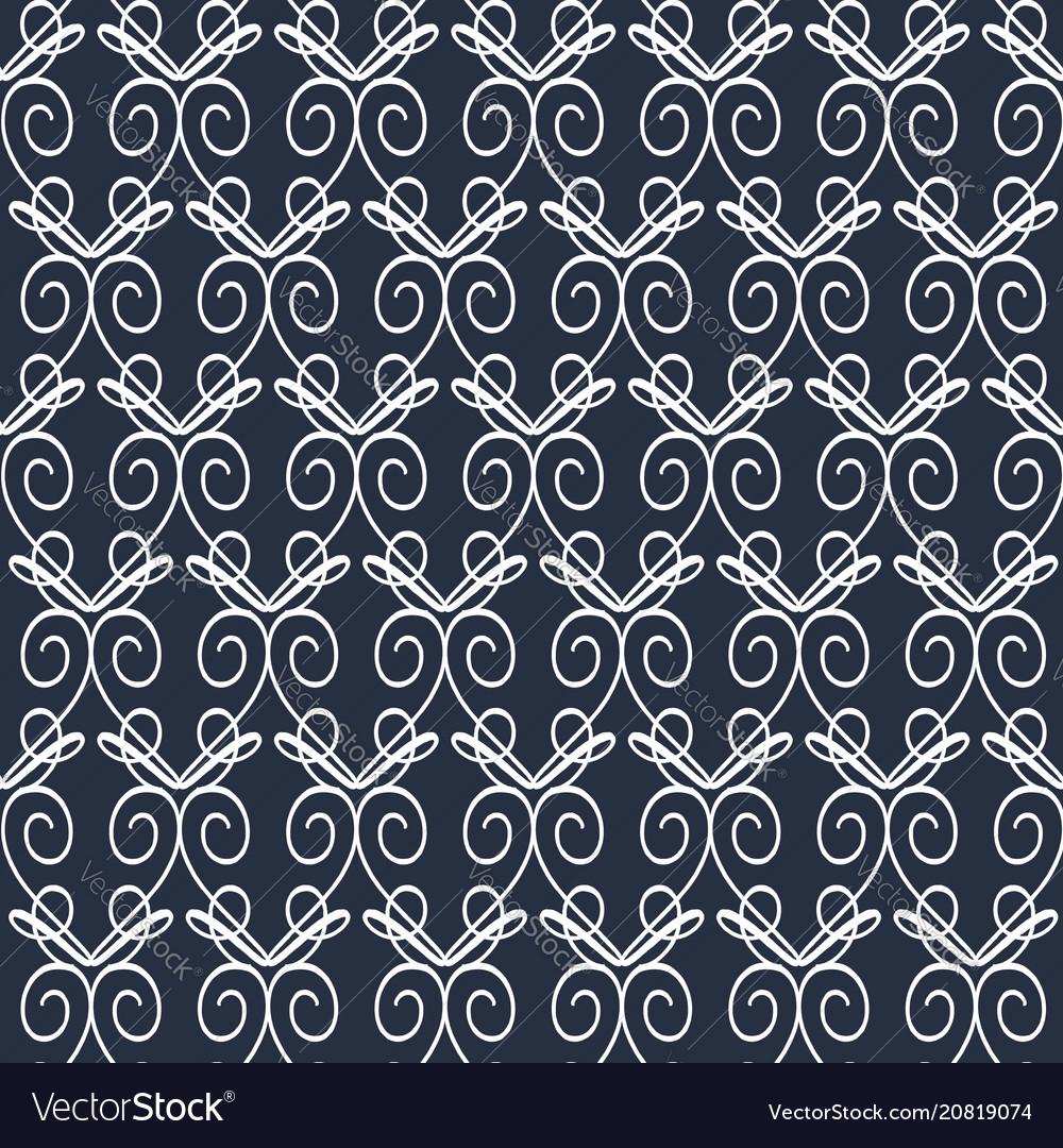 Primitive patterns on a dark green background vector image