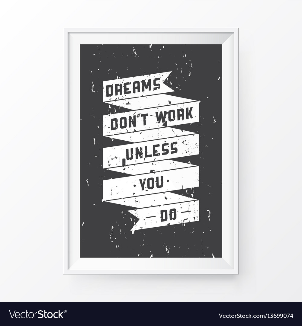 Quote poster frame Royalty Free Vector Image - VectorStock