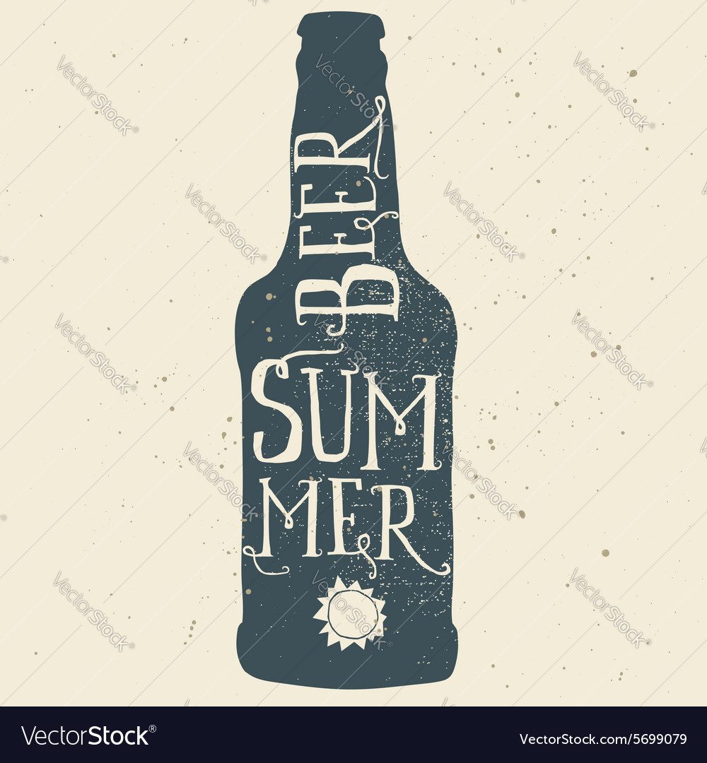 Beer poster Print for T-shirts Hand lettering