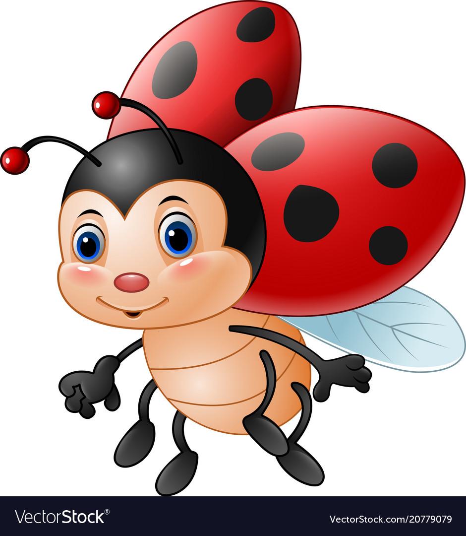 Superb Cartoon Funny Ladybug Vector Image