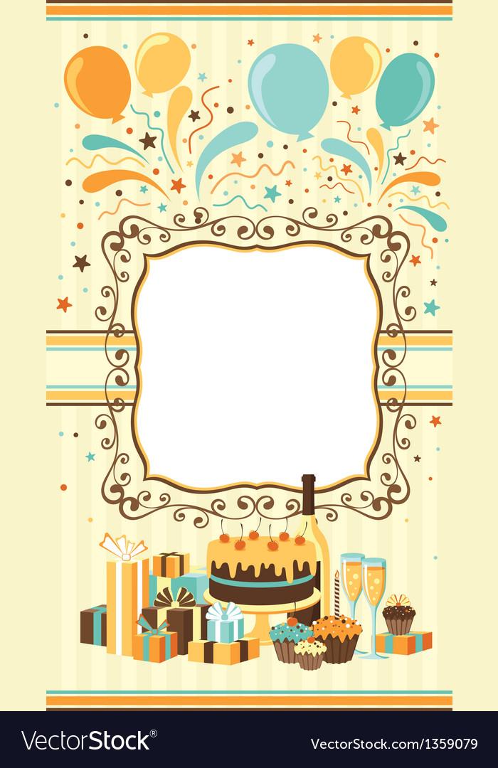 Celebration card template