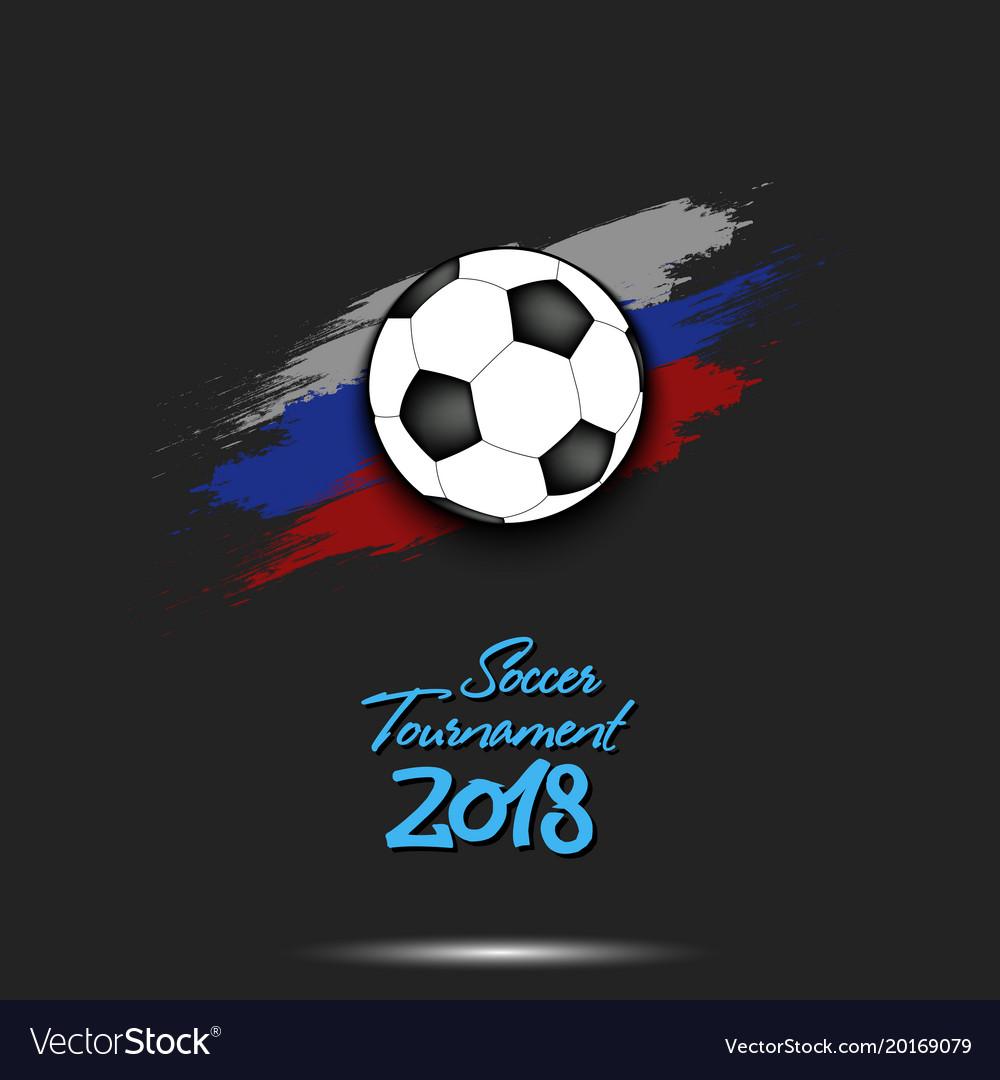 logo soccer tournament 2018 royalty free vector image