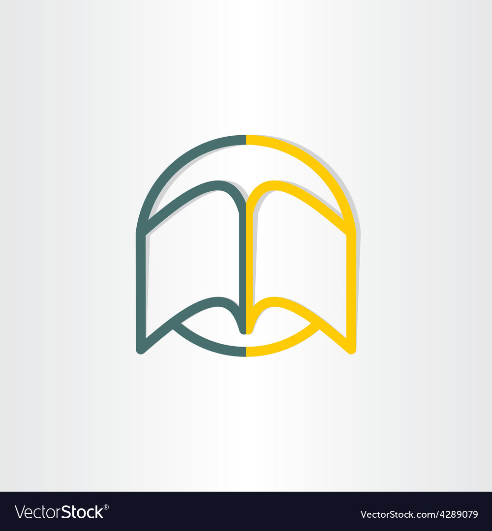 Open book abstract symbol design