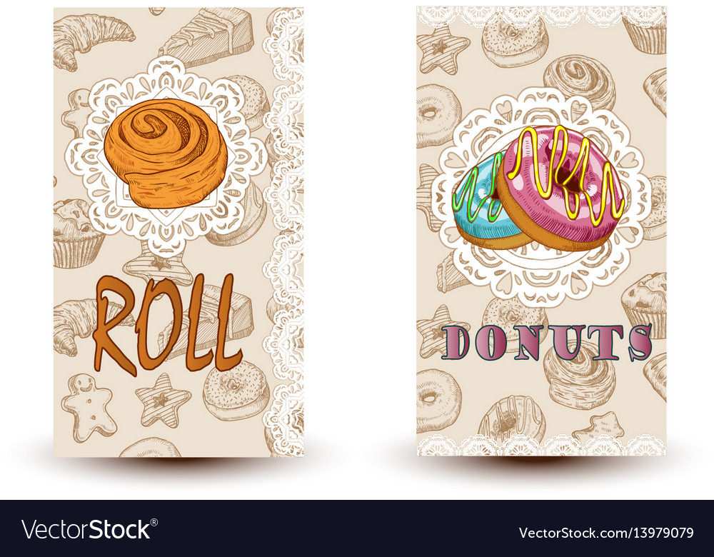 Roll and donuts bakery shop perfect for