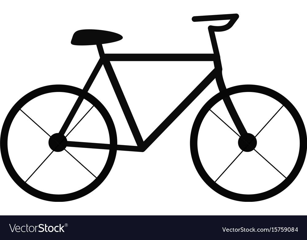 Bicycle on white background bicycle sign trendy