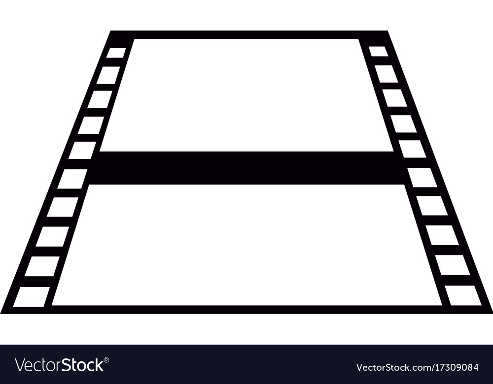 Film strip silouette