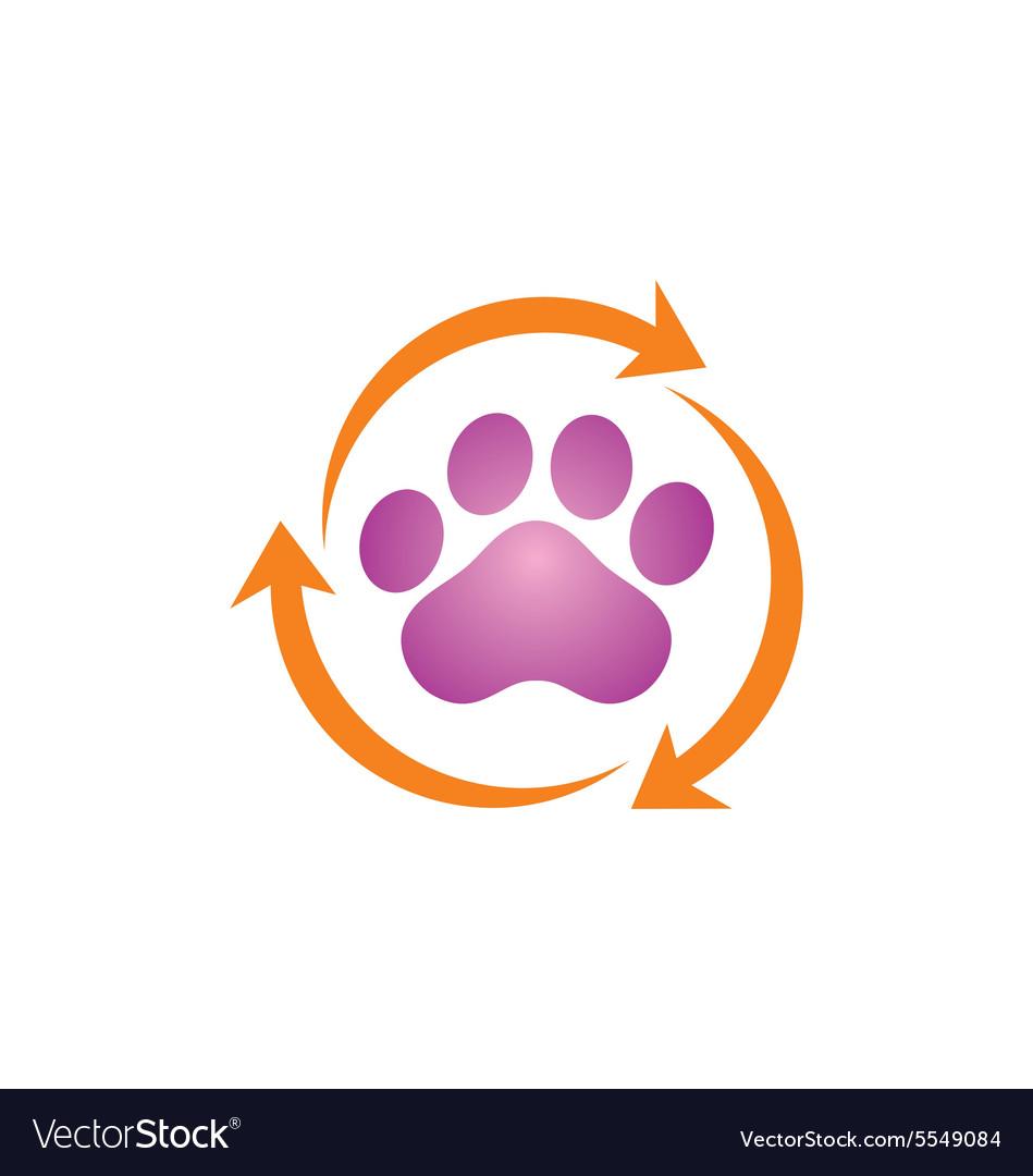 Pet dog foot clean logo