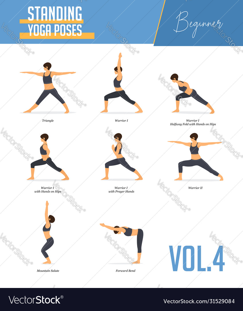 Yoga poses for concept balancing standing poses