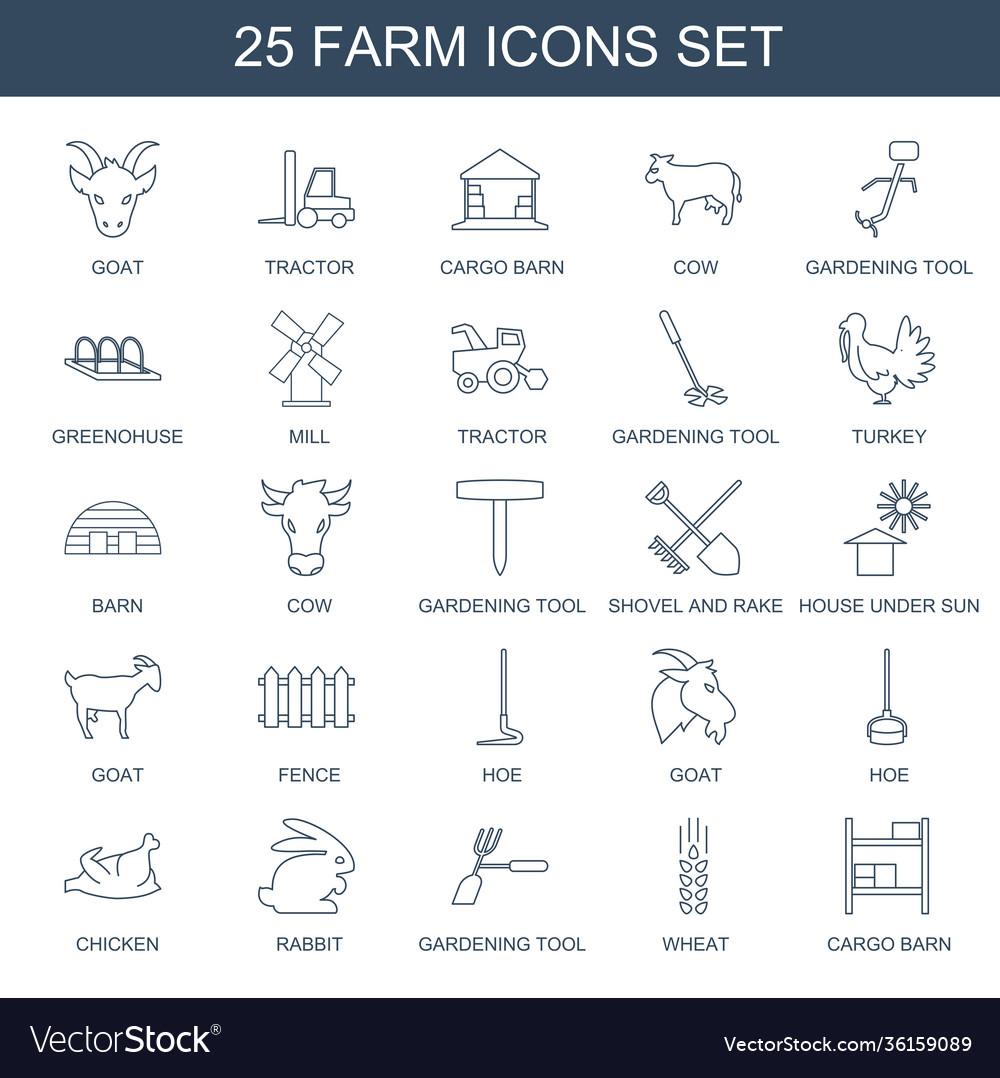 25 farm icons