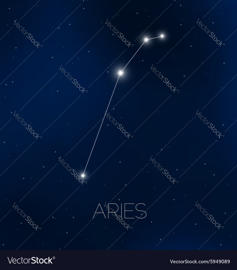 Aries constellation in the sky. What does the constellation Aries look like? 45
