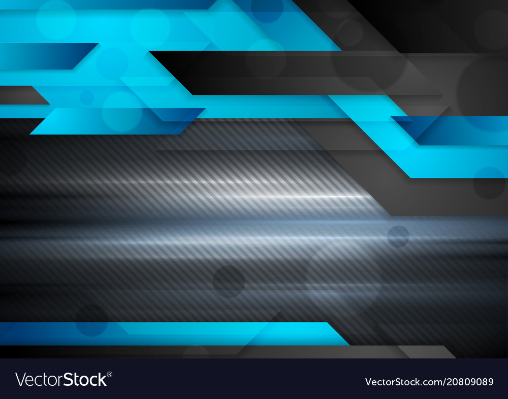 Blue Technology Abstract Background: Black And Blue Abstract Technology Background Vector Image